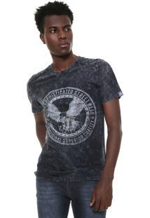 Camiseta Triton Reta Estampada Grafite