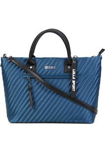 Bolsa Santa Lolla Shopper Nylon Feminina - Feminino-Azul