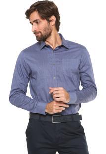 Camisa Calvin Klein Slim Monte Carlo Azul