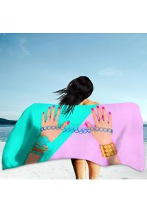 Toalha De Praia / Banho Fashion Accessories Set