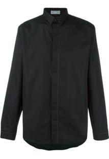 Dior Homme Camisa Com Fechamento Oculto - Preto