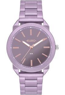 Relógio Feminino Euro Color Spray Eu2035Ysi/4G 40Mm Aço Roxo