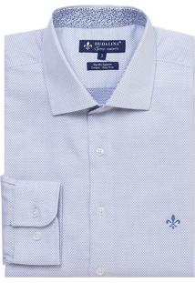 Camisa Dudalina Manga Longa Fio Tinto Maquinetada Masculina (Branco, 2)