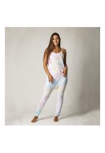 Macacão Feminino Comfy Regata Tie Dye