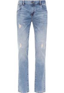 Calça Masculina Jeans Rasgos Dirky - Azul