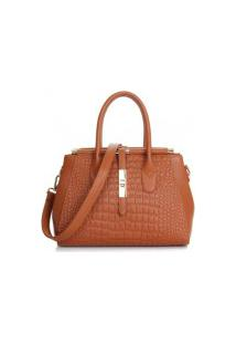 Bolsa Qianfeyia New Fashion - Marrom