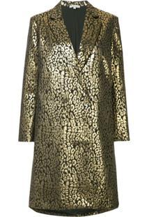 Layeur Casaco Com Estampa Leopardo - Metálico