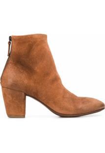 Marsèll Ankle Boot De Camurça - Marrom