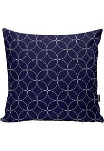Capa De Almofada Geométrica- Azul Marinho & Branca- Stm Home