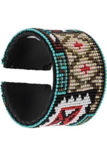 Jessie Western Pulseira Tribal Com Contas - Azul
