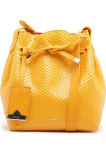 Emily Mini Bucket Bright Snake Yellow | Schutz