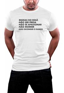 Camiseta Hunter Regras Branca