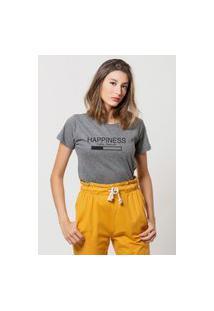 Camiseta Jay Jay Basica Happiness Loading Chumbo Dtg