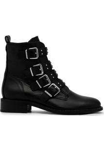Carvela Ankle Boot De Couro Com Tirar - Preto