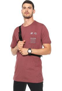 Camiseta Volcom Luxury Vinho