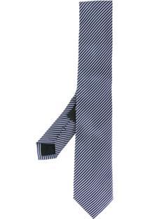 Nicky Gravata Com Listras Diagonais - Azul
