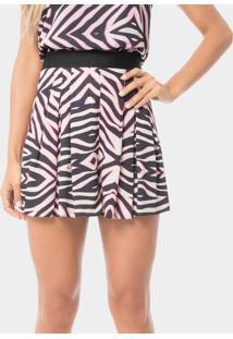Shorts Cintura Alta Estampado Pink Safari - Lez A Lez