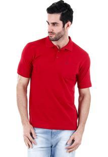Camisa Polo Masculina Broken Rules - Vermelho