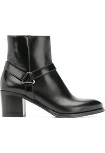 Church'S Ankle Boot De Couro - Preto