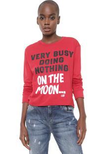 Camiseta Ellus 2Nd Floor Co Basic Very Busy Vermelha