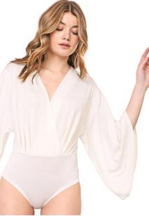 Body Lança Perfume Liso Off-White