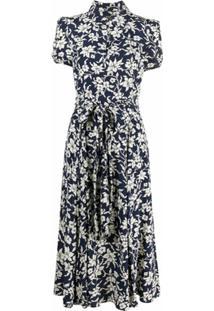 Polo Ralph Lauren Vestido Com Estampa Floral Corrida - Azul