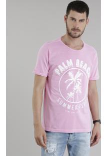 "Camiseta ""Palm Beach"" Rosa"