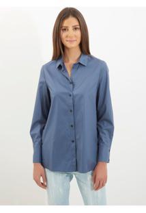 Camisa Le Lis Blanc Erin 2 Azul Feminina (Cosmos, Gg)