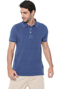 Camisa Polo Timberland Reta Tauton Azul