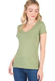 Blusa Gola V Básica Flamê Verde Verde/Gg