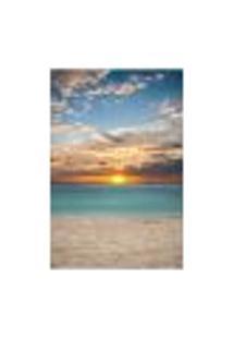 Painel Adesivo De Parede - Pôr Do Sol - Praia - 1581Pnp