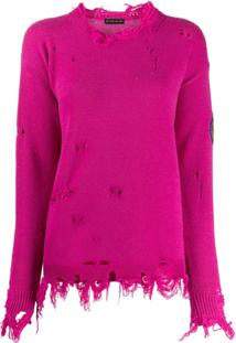 Etro Distressed Knit Jumper - Rosa