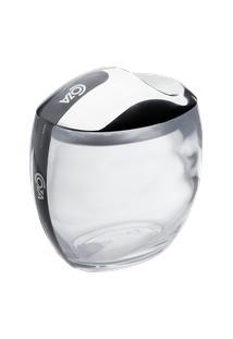 Porta Algodão/Cotonetes Spoom Classic 10,8 X 10,6 X 8,5 Cm Cristal Coza