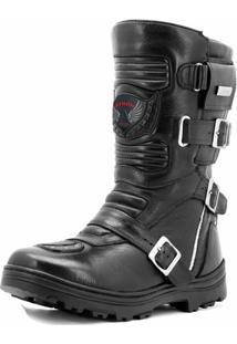 Bota Motociclista Atron Shoes Com Prendedores - Masculino