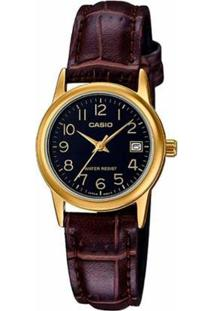 Relógio Casio Analógico Ltp-V002Gl-1Budf Feminino - Feminino-Dourado