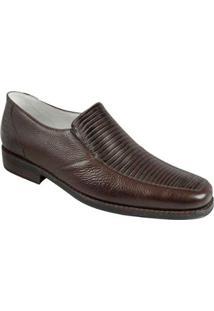 Sapato Casual Couro Gore Sandro Moscoloni Stanford Masculino - Masculino-Marrom Escuro