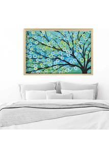 Quadro Love Decor Com Moldura Árvore Painted Madeira Escura Grande