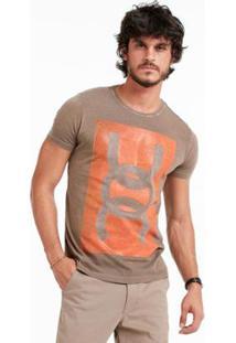 Camiseta Mm Docthos Meia Malha - Masculino-Caqui+Areia