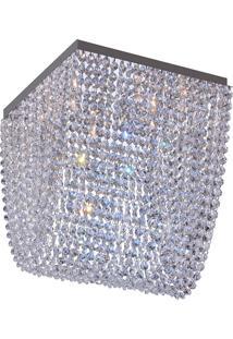 Plafon Llum Pandora Quadrado 30Cm G9 Bivolt - Transparente Transparente