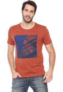 Camiseta Aramis Estampada Caramelo