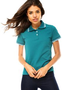 Camisa Polo Manga Curta Cativa Basic Verde