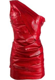 Dsquared2 Vestido Com Franzido - Vermelho