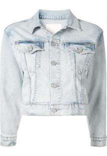 Mother Jaqueta Jeans Cropped - Azul