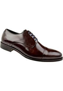 Sapato Social Couro Oxford Constantino Masculino - Masculino-Marrom+Azul