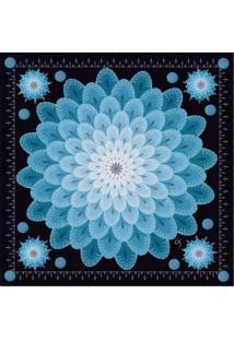 Lenço By Grazie Lenço De Seda Azul