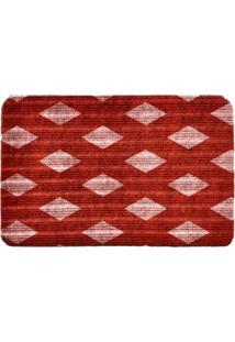Capacho Carpet Triangulos Separados Vermelho Único Love Decor