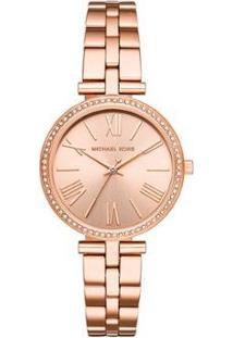 Relógio Michael Kors Maci Rosé Feminino - Feminino-Rose Gold