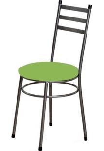 Cadeira Baixa 0.135 Redonda Craqueado/Verde - Marcheli