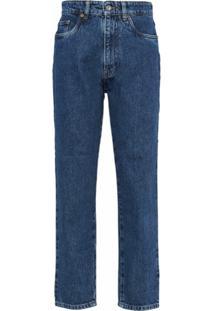 Miu Miu Calça Jeans Reta Brigitte - Azul