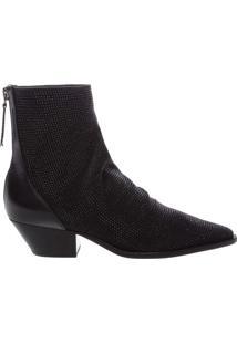 Bota Slouch Glam Western Black | Schutz